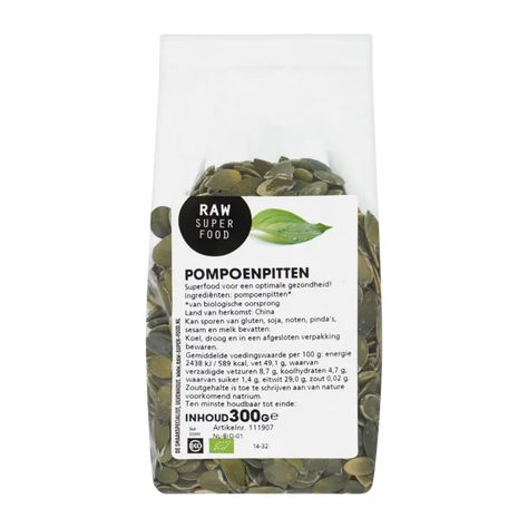 Raw Organic Food pompoenpitten